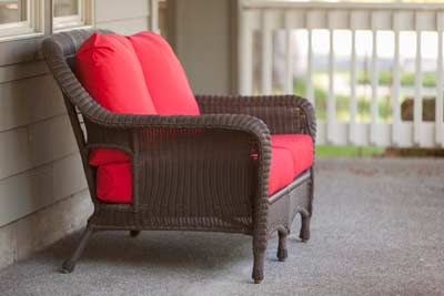Couch in porch